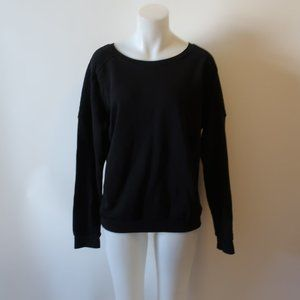 soulcycle Tops - SOULCYCLE BLACK QUILTED ACCENT SWEATSHIRT TOP L *